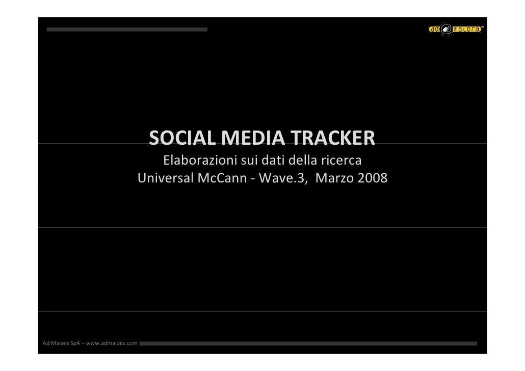 SOCIALMEDIATRACKER                                    SOCIAL MEDIA TRACKER                                    Elaborazio...