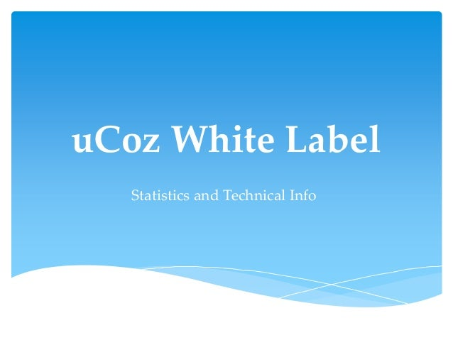 uCoz White Label Statistics and Technical Info