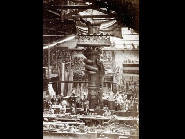 Sur cette photo,    gracieuseté de l`Agence Papyrus, la tour de la Statue de  la Liberté dessinée    par le sculpteur   fr...