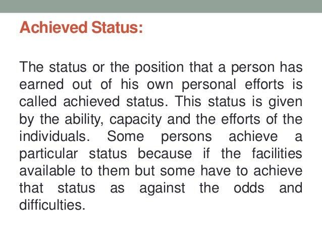 define ascribed status