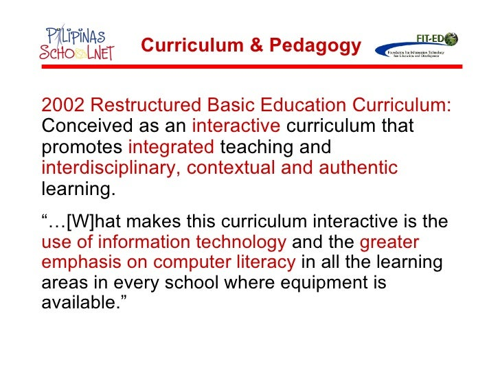 NEW CURRICULUM DEVELOPMENT TODAY IN THE PHILIPPINES