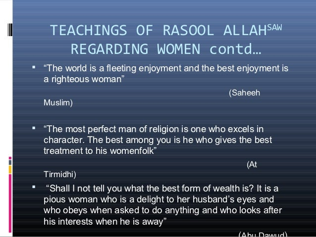 essay on women rights in islam Table of contents • definition • women rights in the west • women rights in islam • six categories of women rights in islam a spiritual rights.