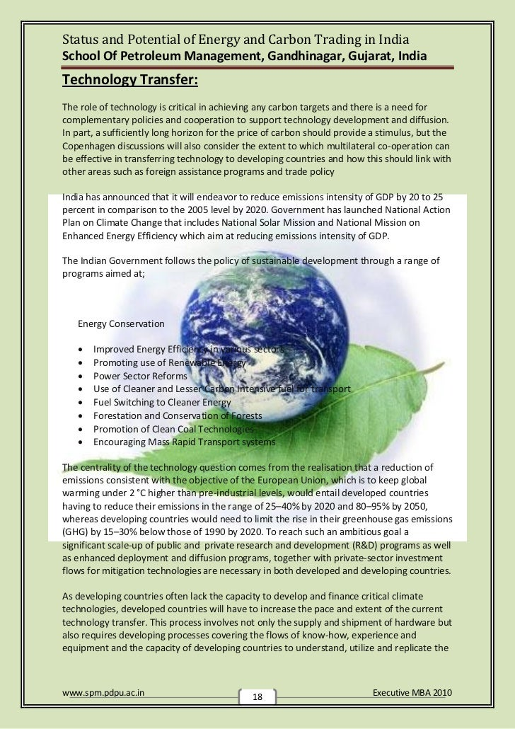 carbon credit management in india Carbon credits it has been established through numerous scientific studies, that emissions generated by human activities are resulting in climate change and increase in global temperatures, with potential catastrophic impacts envisaging this threat to the global society, one of the milestones was the adoption of kyoto.