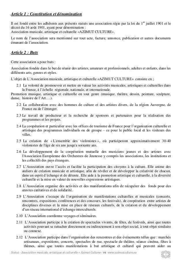 Status association for Exemple reglement interieur association