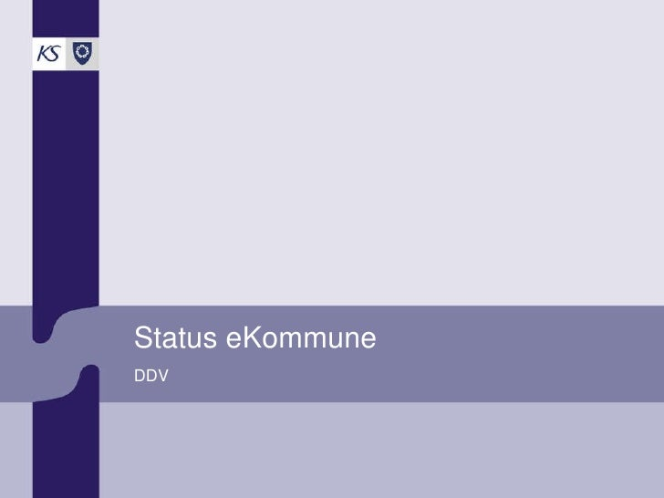 Status eKommune DDV