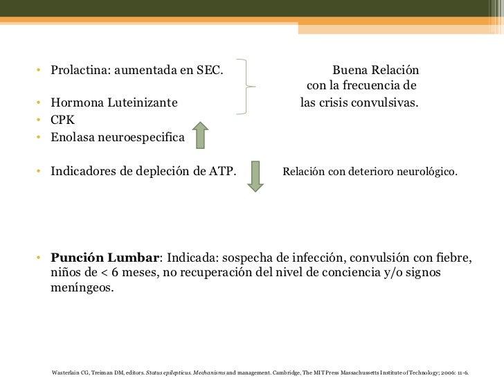<ul><li>Prolactina: aumentada en SEC.  Buena Relación    con la frecuencia de  </li></ul><ul><li>Hormona Luteinizante   la...