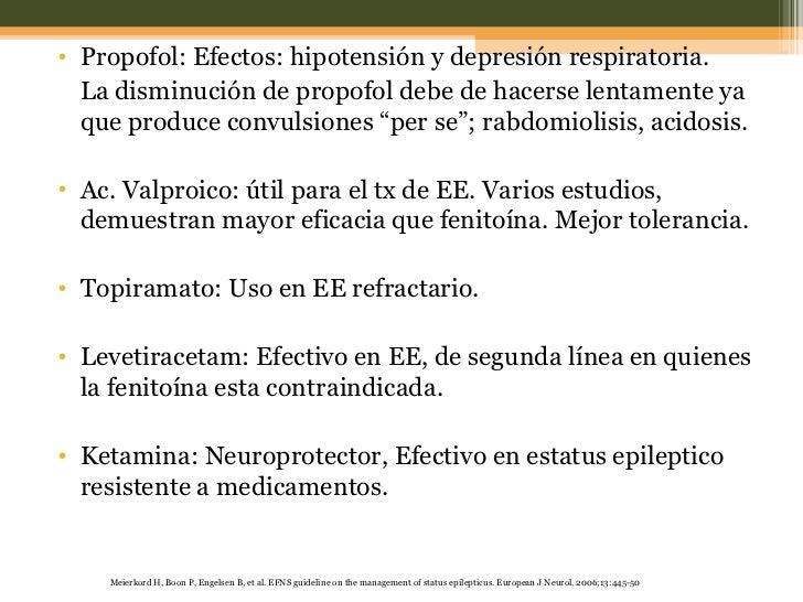 <ul><li>Propofol: Efectos: hipotensión y depresión respiratoria.  </li></ul><ul><li>La disminución de propofol debe de hac...
