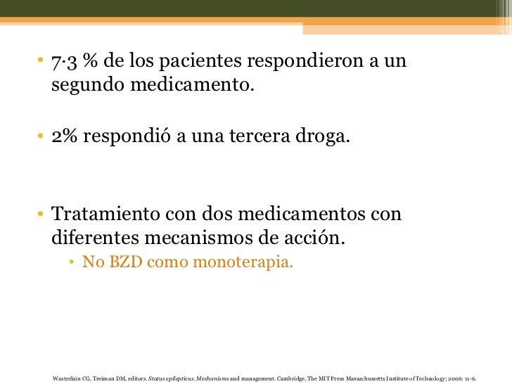 <ul><li>7·3 % de los pacientes respondieron a un segundo medicamento. </li></ul><ul><li>2% respondió a una tercera droga. ...