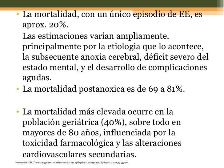<ul><li>La mortalidad, con un único episodio de EE, es aprox. 20%.  </li></ul><ul><li>Las estimaciones varian ampliamente,...