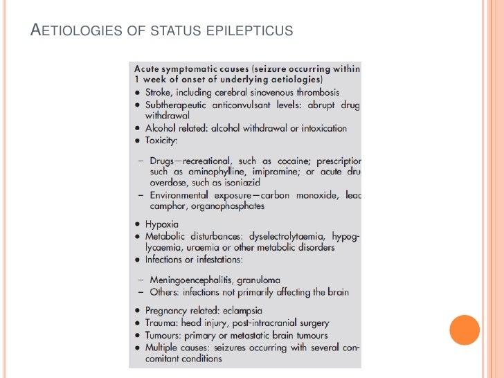 Aetiologies of status epilepticus<br />