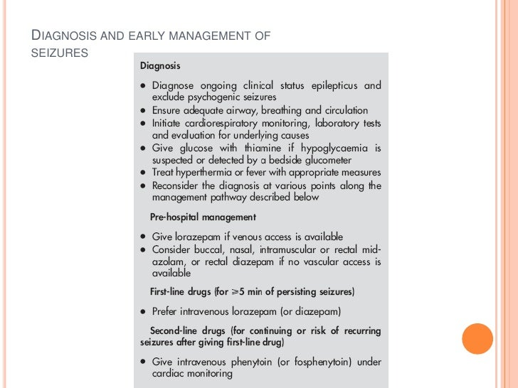 Diagnosis and early management ofseizures<br />