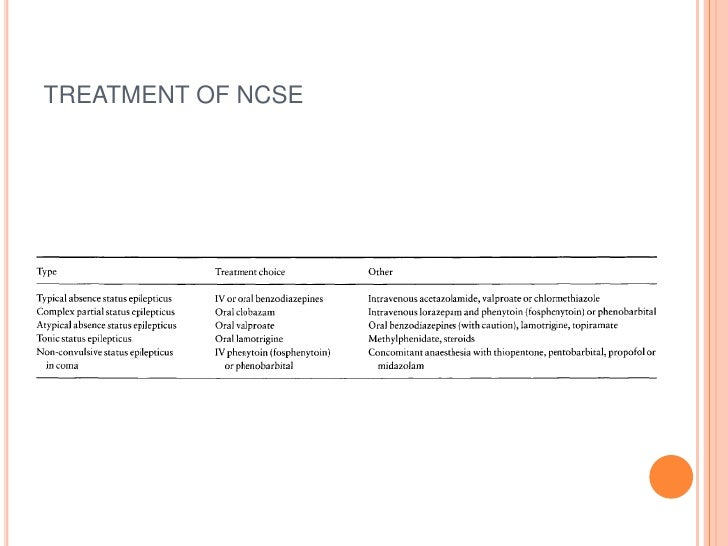 TREATMENT OF NCSE<br />