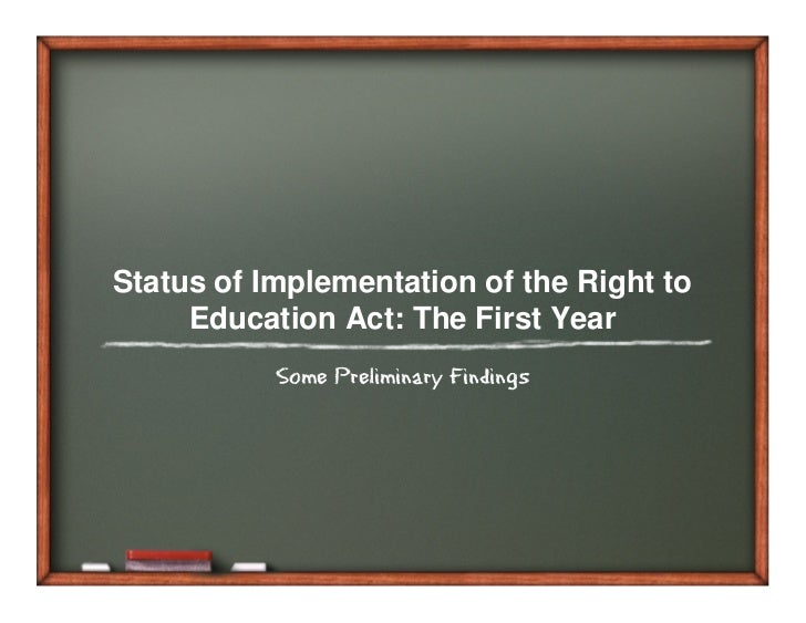 Right to Education – Hurdles in Implementation Essay