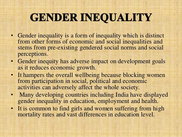 essays on gender inequality in india Gender inequality is a visible fact in our society and in this essay, i hypothesize that gender inequality still exists as a result of factors such as post-secondary education differences of the two genders, role of females in families, female objectification.