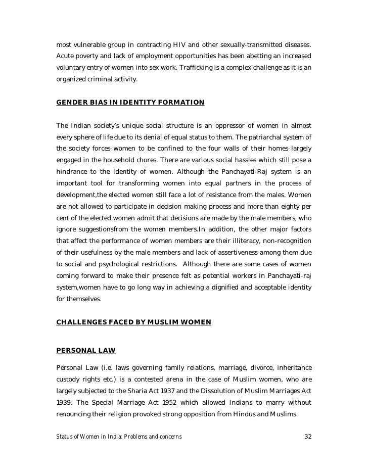 the status of women in india a paradox The aim of this paper is to examine the status of women in different era in india husband received the status as a patiparmeshwar (god) women were denied to.