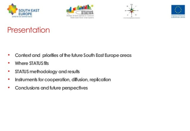 urbasofia status project content management 2 presentation contextand prioritiesofthefuturesoutheasteuropeareas