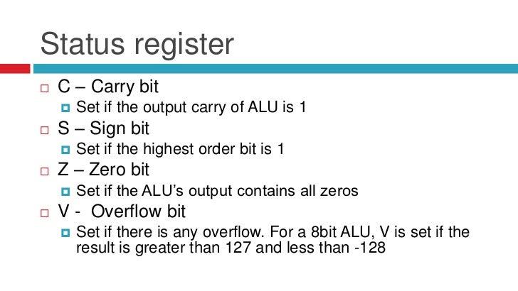 c how to check carry zero overflow bits