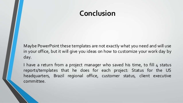 Automatize Status Report With Excel Macro PowerPoint Save Time A