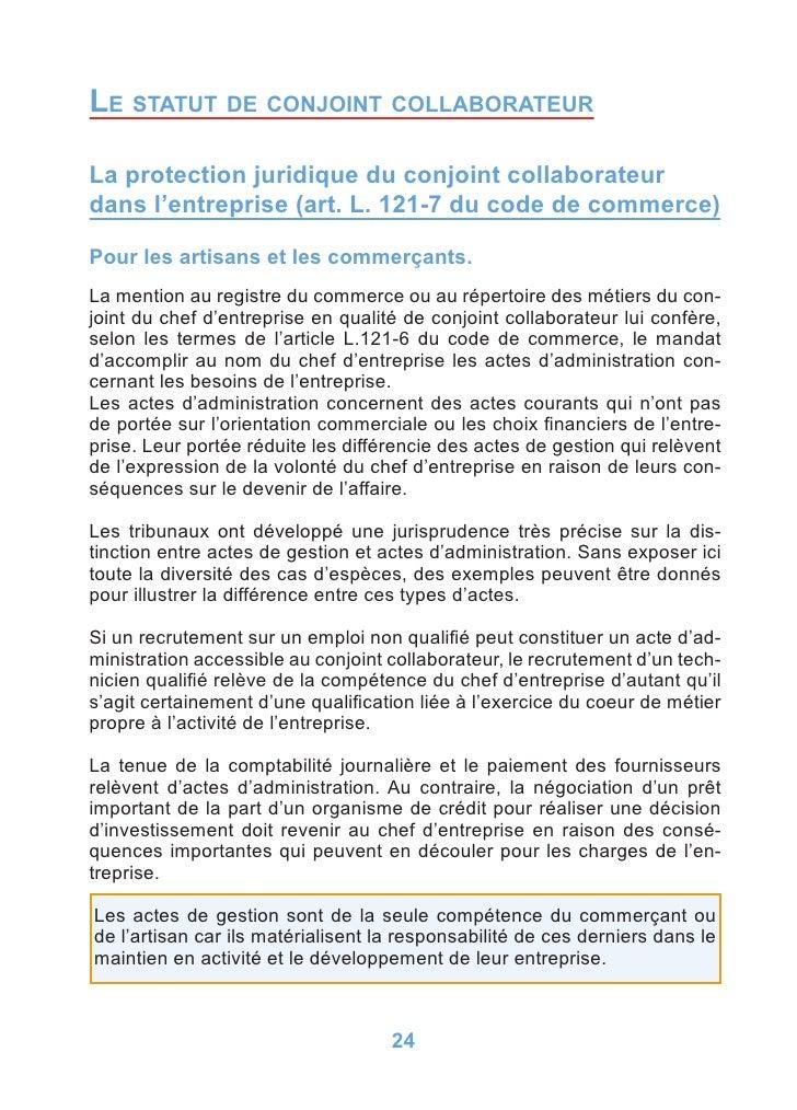Statut du conjoint 2008 - Statut chambre de commerce ...