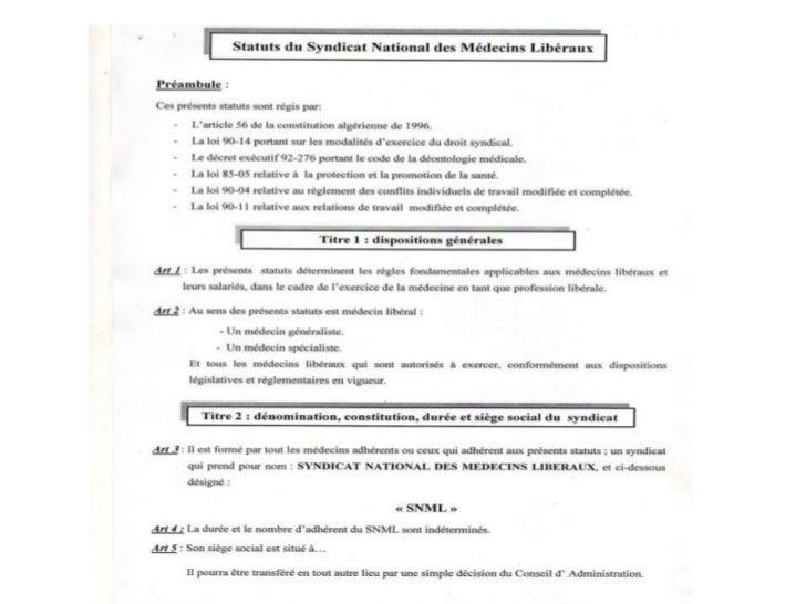 Statut du snml Slide 2