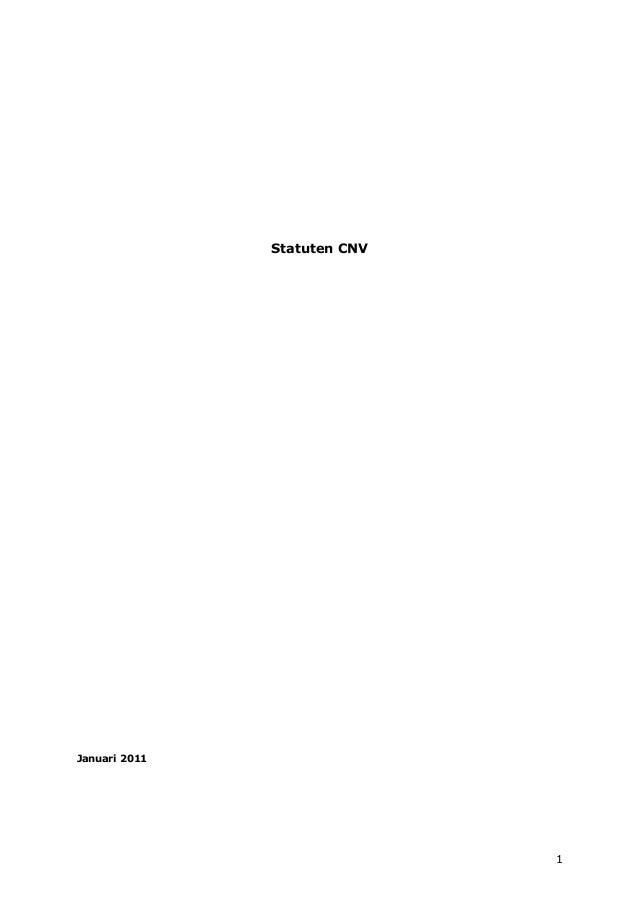 1 Statuten CNV Januari 2011