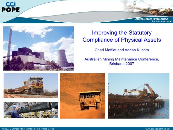 Improving the Statutory                                                   Compliance of Physical Assets                   ...