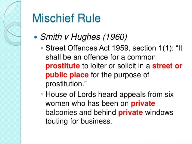 smith v hughes 1960 Smith v hughes (1960) high court queen's bench division subscription required to access this resource you'll need to subscribe find out more.