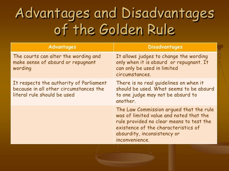 golden rule of interpretation The fundamental principle of statutory interpretation is that the words of a  the  textual meaning and the golden rule that considers the entire context.