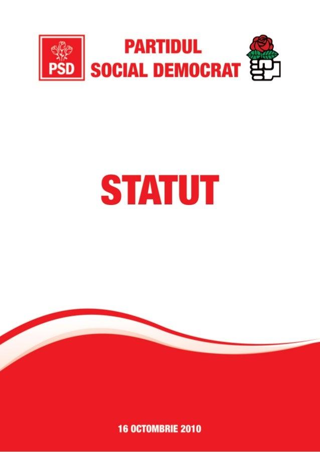 STATUTULPARTIDULUI SOCIAL DEMOCRAT