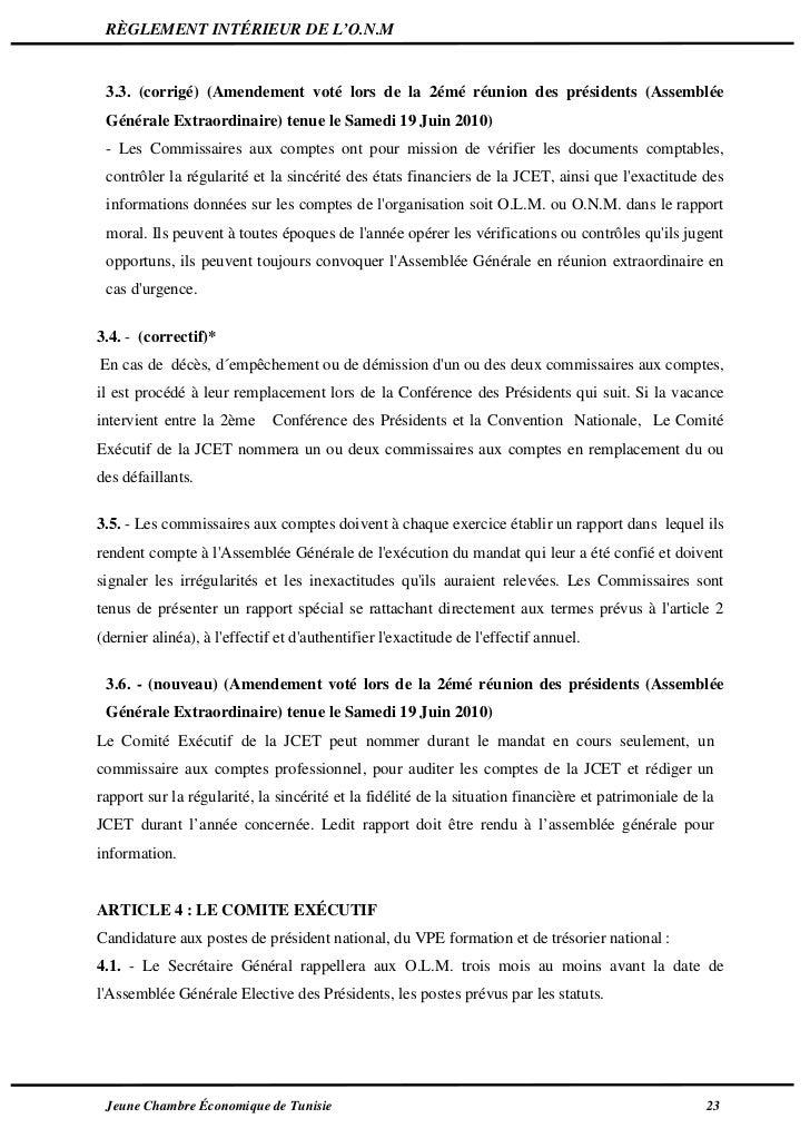Statut de la jci tunisie 2011 - Chambre nationale commissaire priseur ...