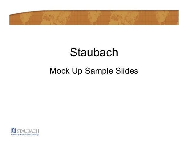 StaubachMock Up Sample Slides