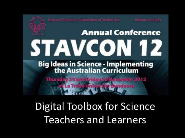 Digital Toolbox for Science  Teachers and Learners