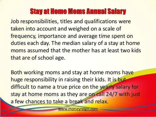 stay at home job description