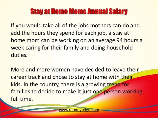 Career ideas for stay at home moms