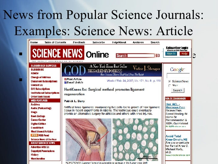 current science news articles