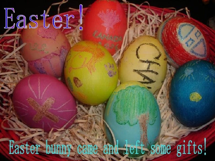 Staying in the countryside of canada easter bunny came and left some gifts negle Choice Image
