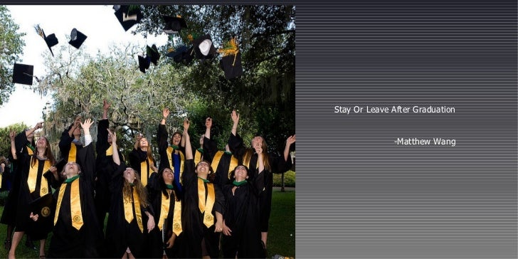 Stay Or Leave After Graduation -Matthew Wang