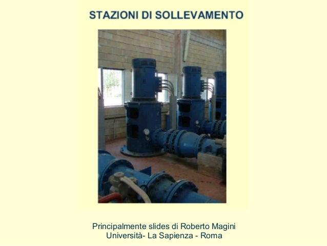 Principalmente slides di Roberto Magini Università- La Sapienza - Roma