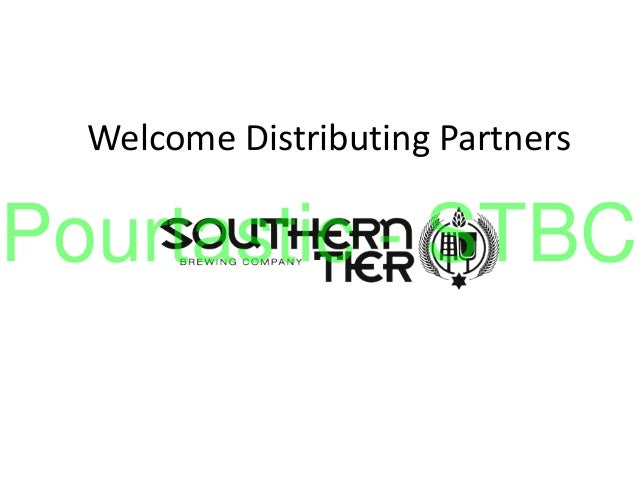 Welcome Distributing Partners Pourtastic - STBC
