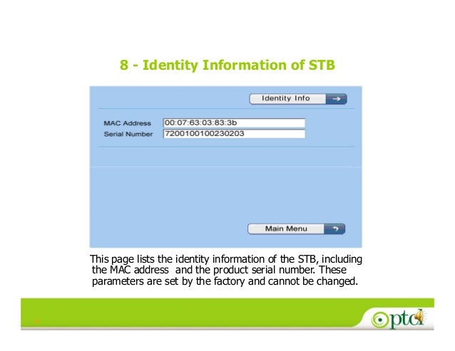 Stb configuration for iptv [compatibility mode]