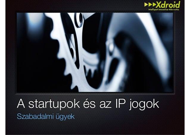 Text A startupok és az IP jogok Szabadalmi ügyek