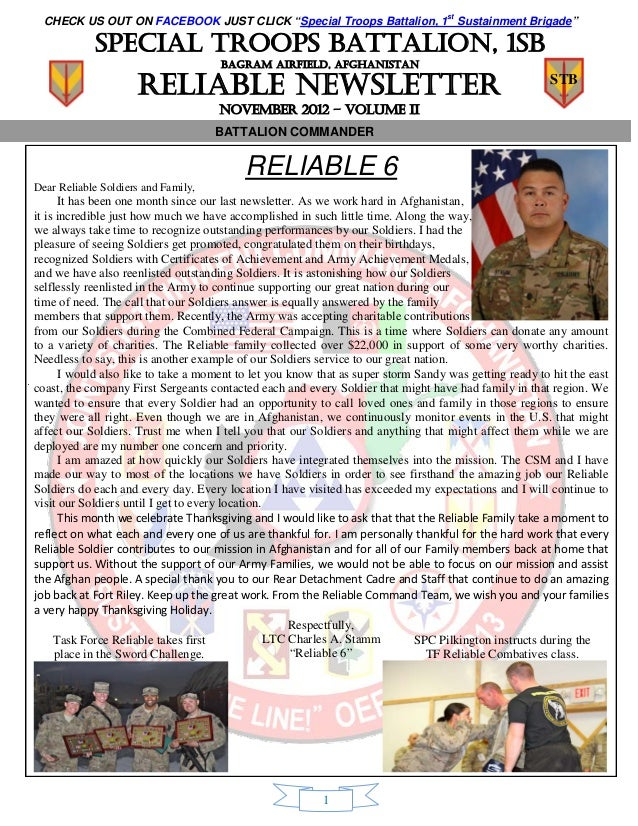 """CHECK US OUT ON FACEBOOK JUST CLICK """"Special Troops Battalion, 1st Sustainment Brigade""""            Special troops battalio..."""