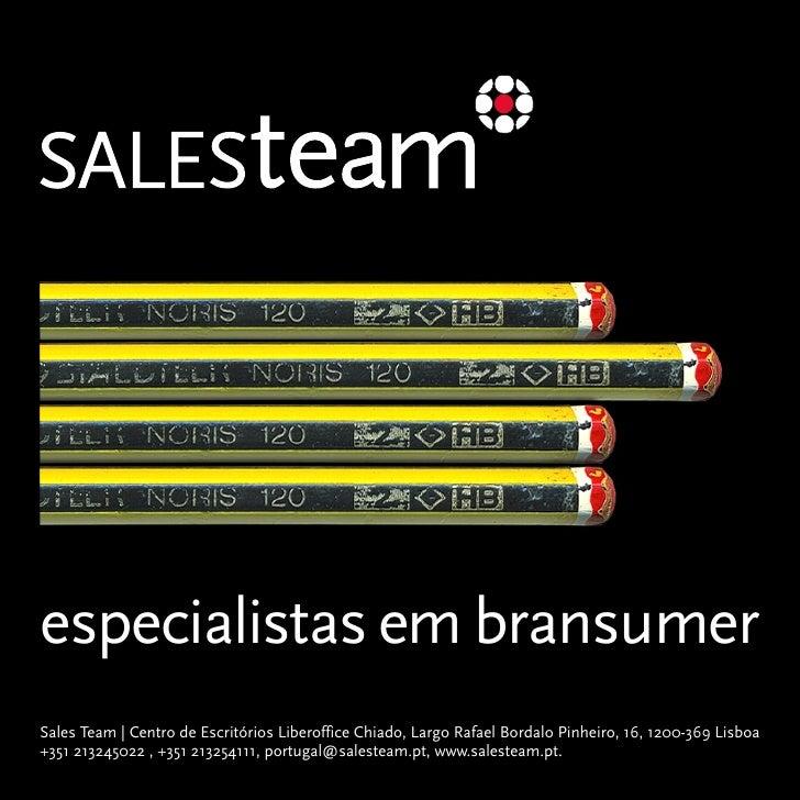 especialistas em bransumer Sales Team | Centro de Escritórios Liberoffice Chiado, Largo Rafael Bordalo Pinheiro, 16, 1200-...