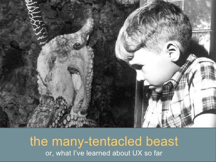 the many-tentacled beast or, what I've learned about UX so far