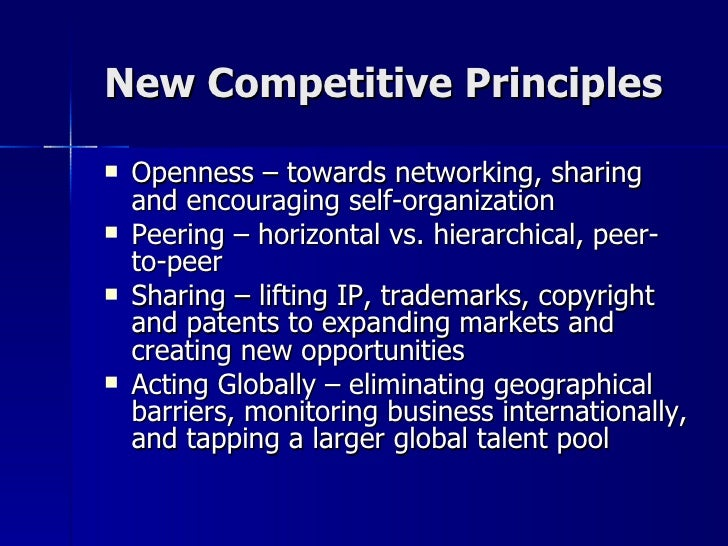Principles of Wikinomics