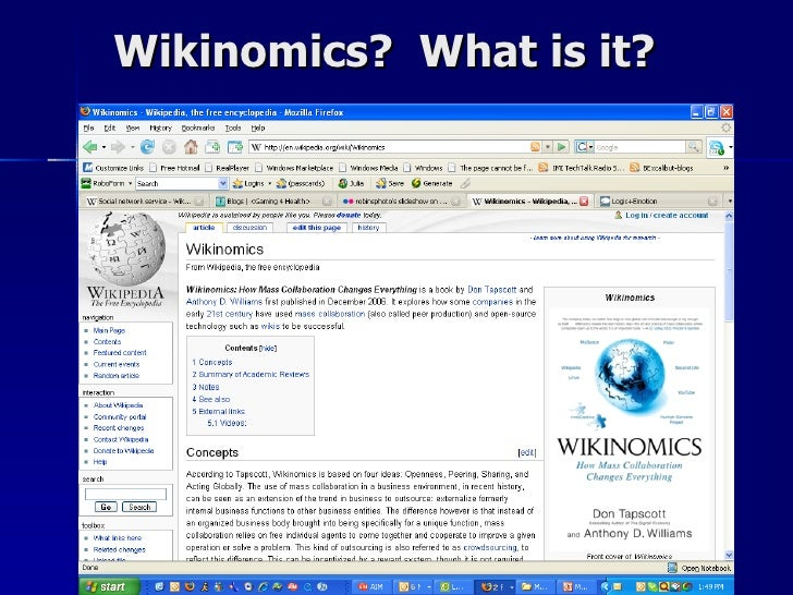 A study of the principles of wikinomics