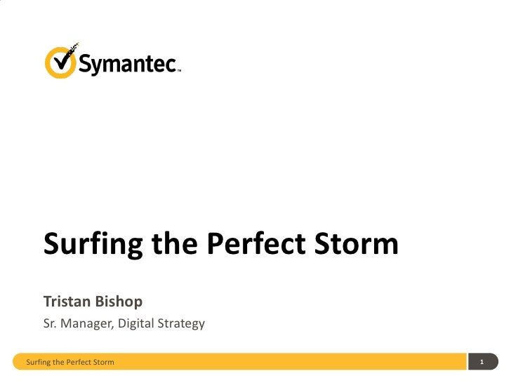 Surfing the Perfect Storm    Tristan Bishop    Sr. Manager, Digital StrategySurfing the Perfect Storm           1