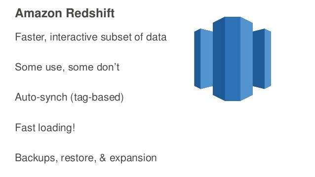 Next Steps Add caching? Storage efficiency Partner with the S3 team to improve S3 for big data
