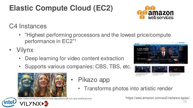 """Elastic Compute Cloud (EC2) C4 Instances • """"Highest performing processors and the lowest price/compute performance in EC2""""..."""
