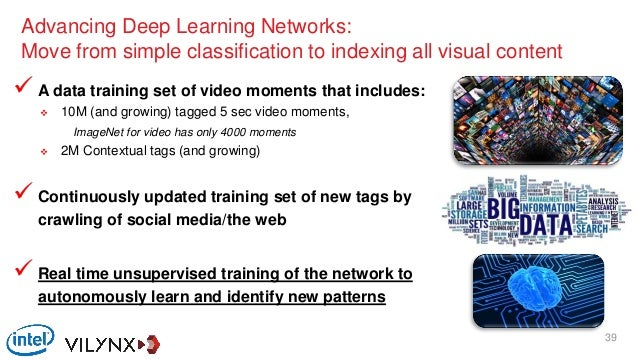  A data training set of video moments that includes:  10M (and growing) tagged 5 sec video moments, ImageNet for video h...